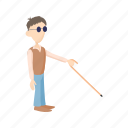 accident, blind, cane, hobble, hospital, man, wheelchair icon