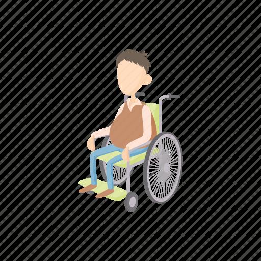 chair, disabled, human, man, medical, wheel, wheelchair icon