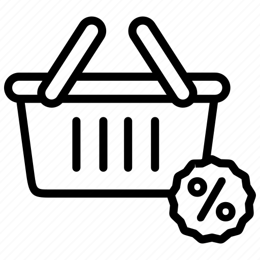 bag, basket, discount, ecommerce, offer, sale, shopping icon