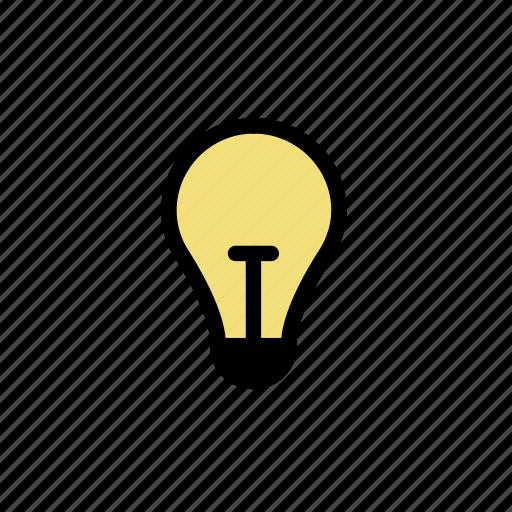 bright, bulb, idea, light icon