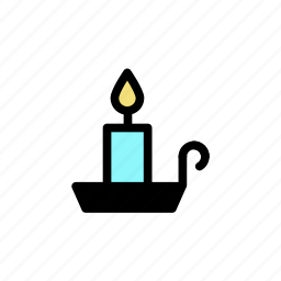 candle, fire, light, tray, wax icon