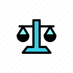 court, justice, law, ruling, scale icon