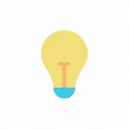 bright, bulb, idea, light icon