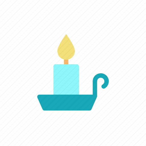 candle, light, tray, wax icon