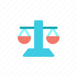 court, justice, law, scales icon
