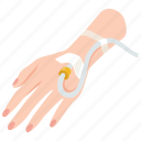 catheterization, hospital, intravenous, catheter, cannula, medical icon