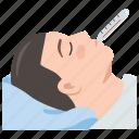 cold, fever, flu, illness, sick, temperature icon