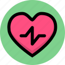 heart, hyperextension, hypertension icon