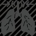 asthma, coronavirus, flu, lungs, pneumonia, symptom icon