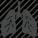 asthma, bronchitis, coronavirus, lung, pneumonia, symptom icon