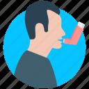 asthma, disease, inhaler icon