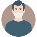 allergy, allergy mask, cold, disease, mask icon