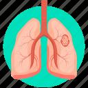 disease, lungs, lungs cancer, lungs disease, lungs infection, virus icon