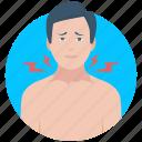 disease, neck pain, throat, throat ache, throat pain icon
