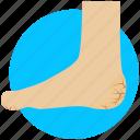 ache, disease, foot crack, heel crack, heel pain, heel problem icon