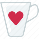 cooking, cup, dishes, drink, heart, love, yumminky icon