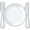 cooking, cutlery, dinner plate, dishes, plate, setting, yumminky icon