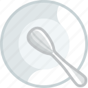 cooking, deep plate, dishes, eating, plate, spoon, yumminky icon