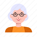 avatar, emoji, face, female, grandma, old, woman icon