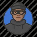 african, avatar, avatars, burglar, heist, man, thief icon