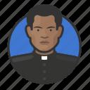 african, avatar, avatars, catholic, father, preacher, priest icon