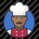 african, avatar, avatars, chef, cook, kitchen, man icon