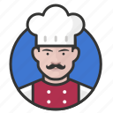 avatar, avatars, chef, cook, kitchen, man icon