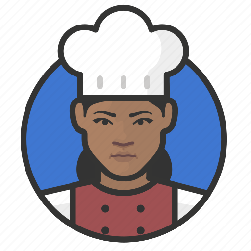 african, avatar, avatars, chef, cook, kitchen, woman icon