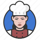 avatar, avatars, chef, cook, kitchen, woman icon