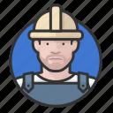 avatar, avatars, construction, hardhat, man, road crew icon