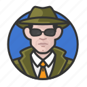 avatar, avatars, detective, investigator, man, private eye icon
