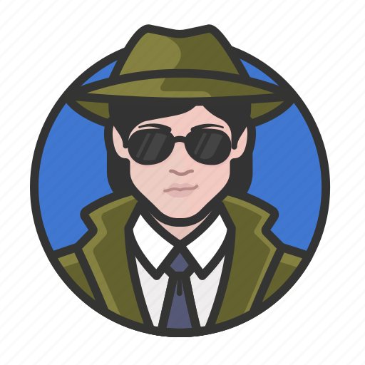 avatar, avatars, detective, investigator, private eye, woman icon
