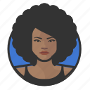 african, afro, avatar, avatars, disco, woman icon