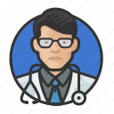 asian, avatar, avatars, doctor, man, physician icon