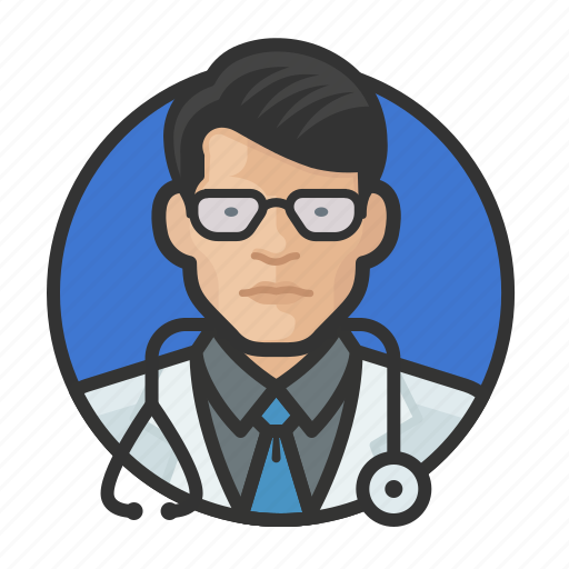 Asian, avatar, avatars, doctor, man, physician icon - Download on Iconfinder