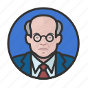 avatar, avatars, elderly, man, old man icon