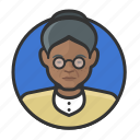 african, avatar, avatars, elderly, old woman, woman icon