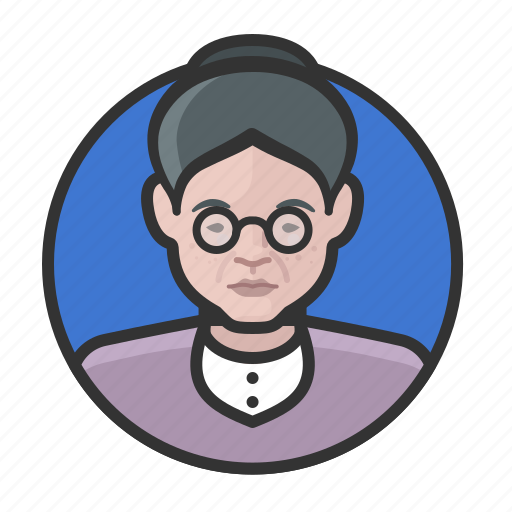 avatar, avatars, elderly, old woman, woman icon