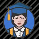 avatar, avatars, education, graduate, student, woma