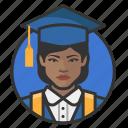 african, avatar, avatars, education, graduate, student, woman