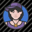 avatar, avatars, baseball cap, hat, hiphop, woman icon
