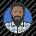 african, avatar, avatars, beard, flannel, hipster