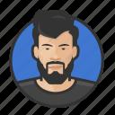 asian, avatar, avatars, beard, hipster, man icon