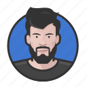 avatar, avatars, beard, hipster, man icon