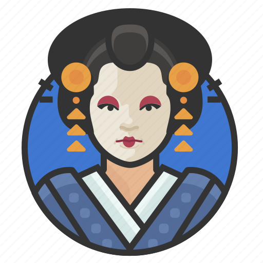 avatar, avatars, japanese, traditional, woman icon