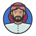 arab, avatar, avatars, keffiyeh, man, muslim, turban icon