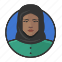 african, avatar, avatars, hijab, muslim, woman icon