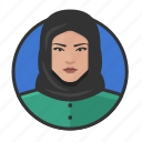 arab, avatar, avatars, hijab, muslim, woman icon
