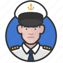 avatar, avatars, man, military, navy, uniform icon