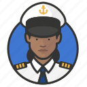 african, avatar, avatars, military, navy, uniform, woman icon